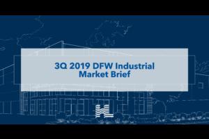 3Q 2019 DFW Industrial Market Brief