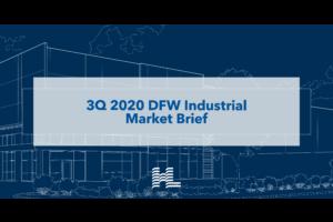 3Q 2020 DFW Industrial Market Brief