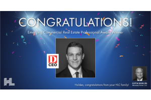 Holden Lunsford WINS D CEO's Emerging Commercial Real Estate Professional Award